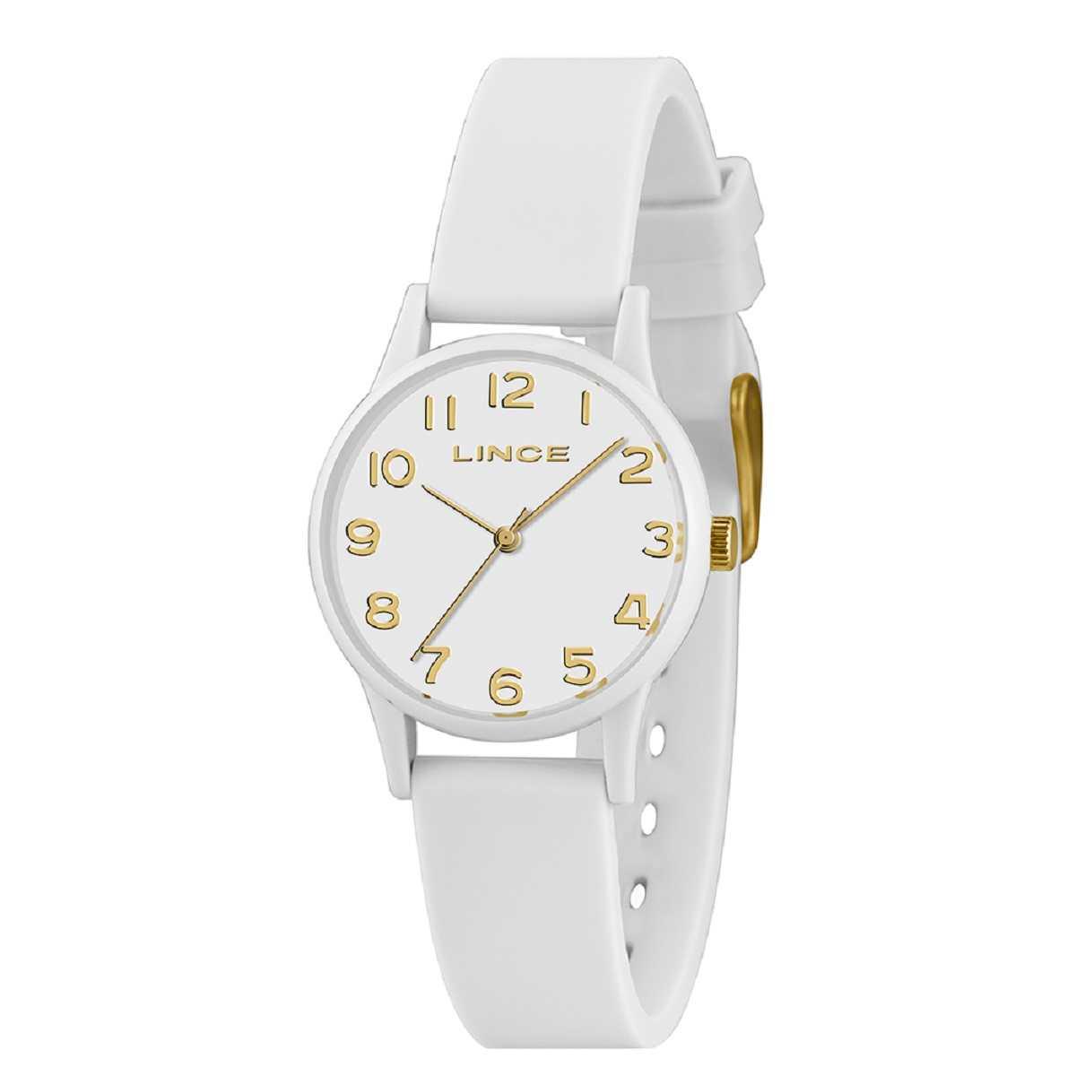 Relógio Feminino Lince Urban Branco Pulseira Silicone LRCJ102P B2BX