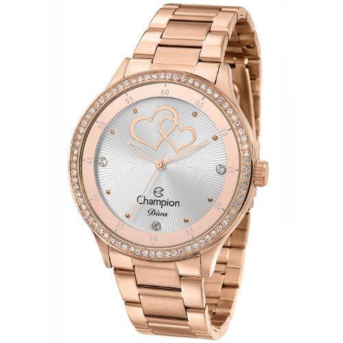 Relógio Feminino Rosê Champion Diva Cn29721z