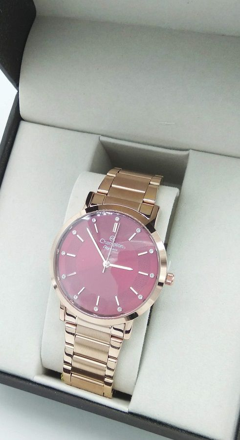 Relógio Feminino Rosê Elegance  Champion Cn25621i