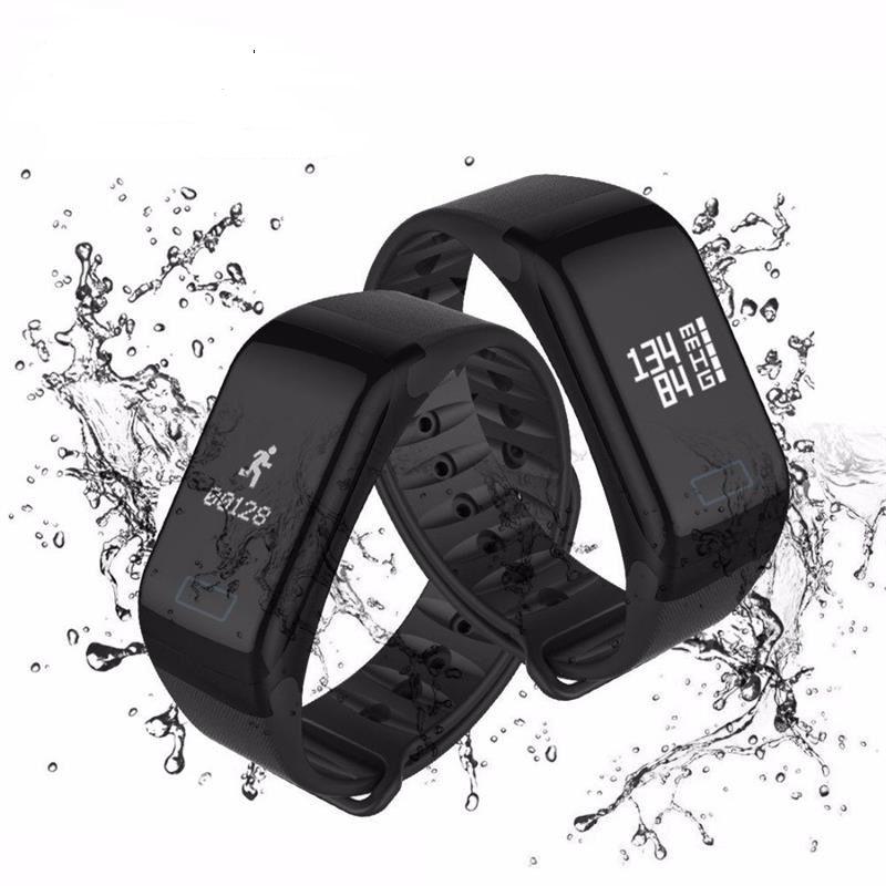 Relógio Inteligente F1 Smartband Monitor Passo Pressão Sanguínea Calorias Sono Ritmo Cardíaco