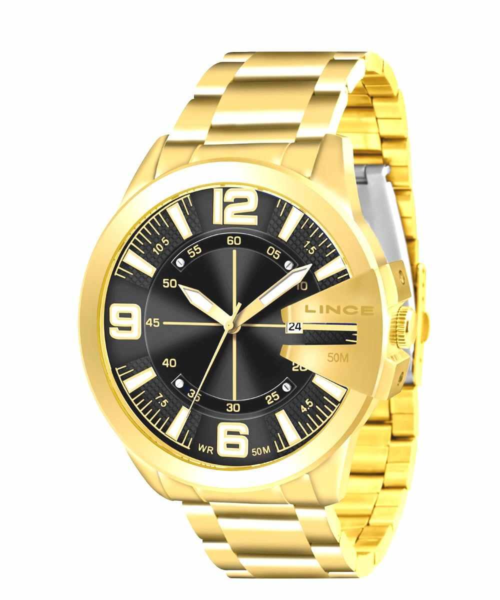 Relógio Lince Masculino Analógico Dourado MRG4333L P2KX