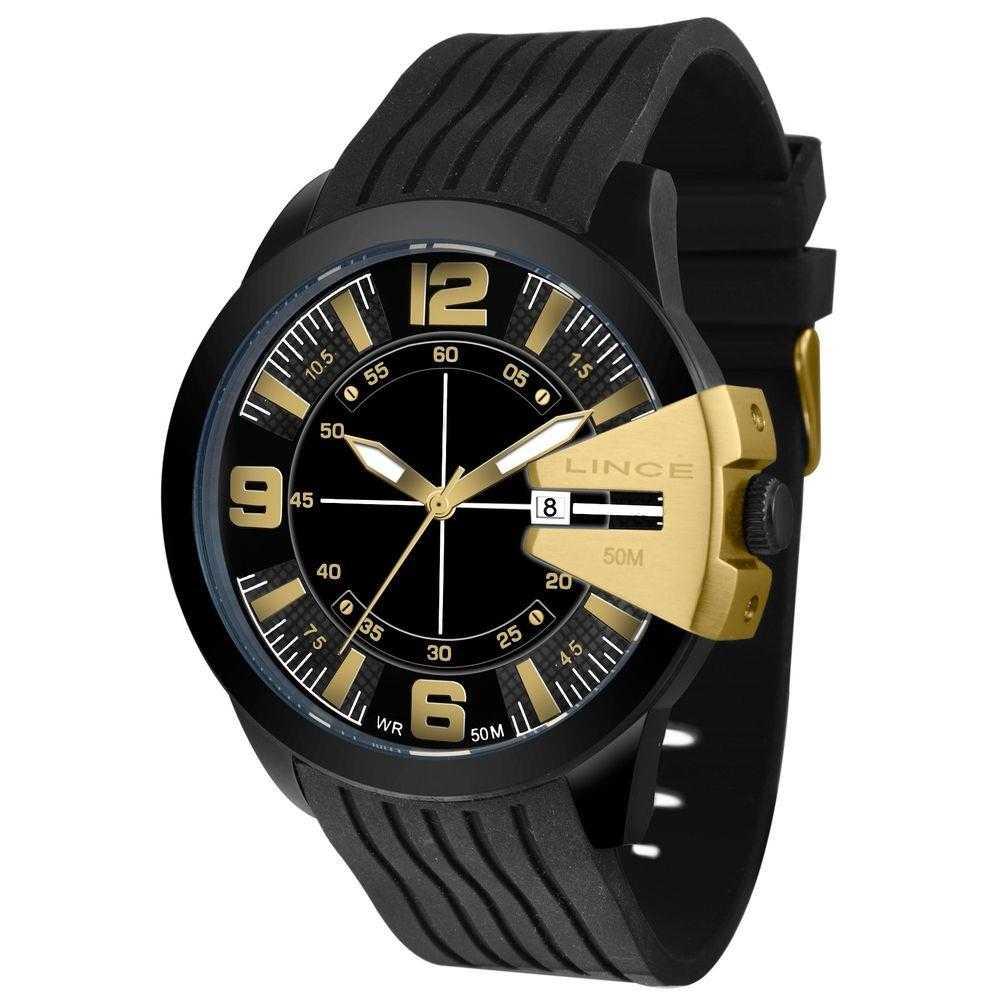 Relógio Lince Masculino Analógico Pulseira Silicone MRP4403L P2PX