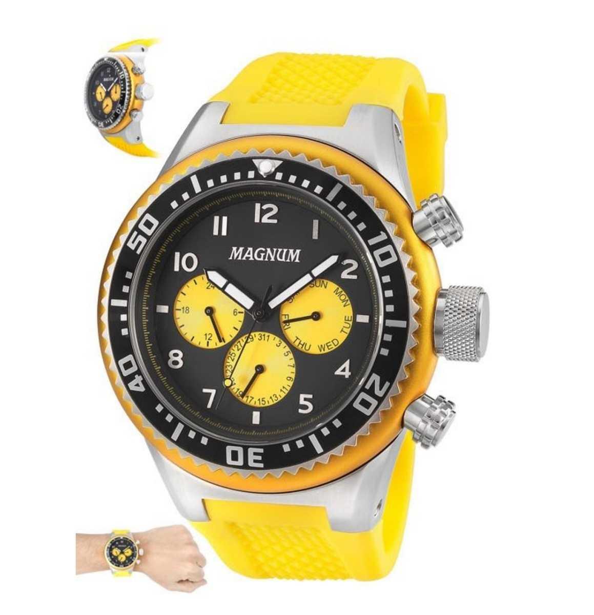 Relógio Magnum Masculino Amarelo MA34012Y