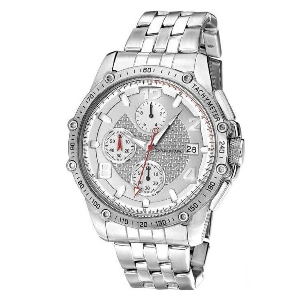 Relógio Magnum Masculino Prateado Chronograph MA32461Q
