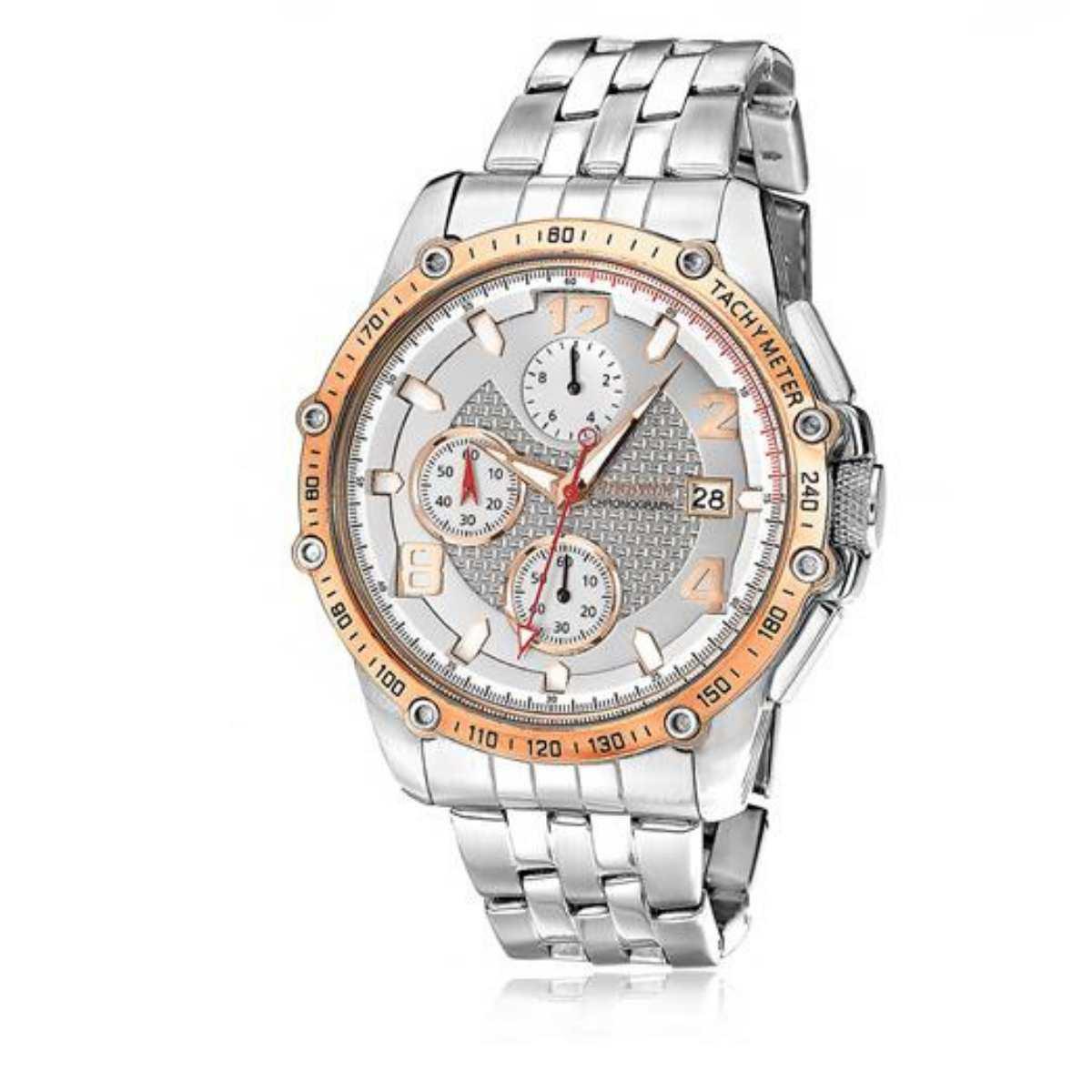 Relógio Magnum Masculino Prateado Chronograph MA32461Z
