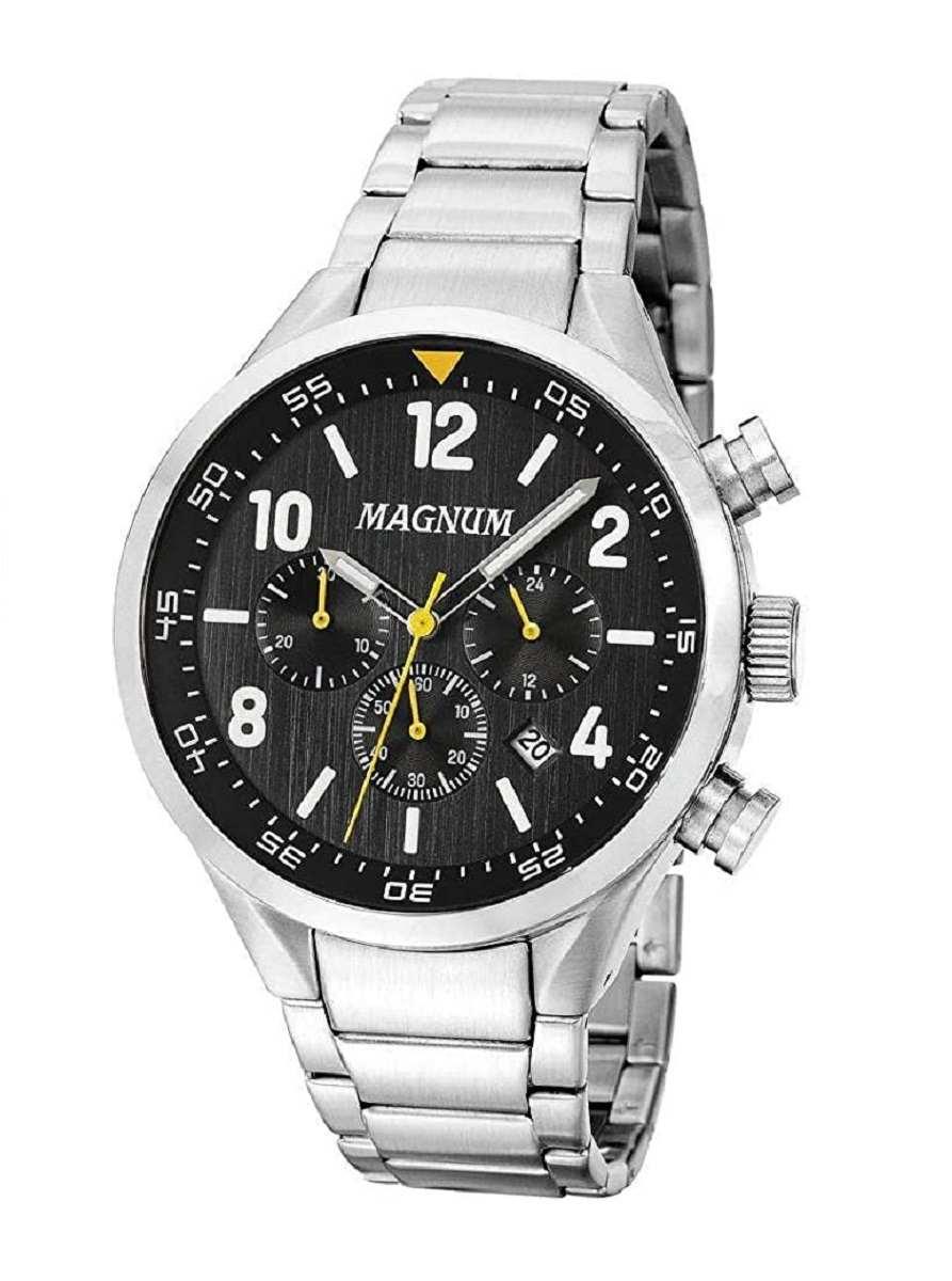 Relógio Magnum  Masculino Prateado Chronograph MA34790T