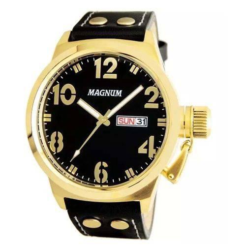 Relógio Masculino Magnum Analógico  Calendário Military  Dourado/Preto MA32783U