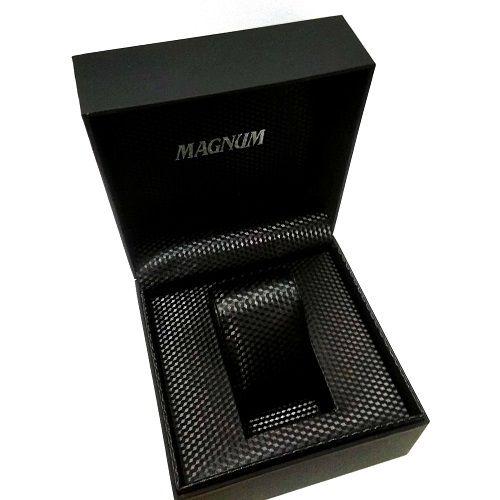 Relógio Masculino Magnum Analógico  Calendário Military Branco/Preto MA33415B