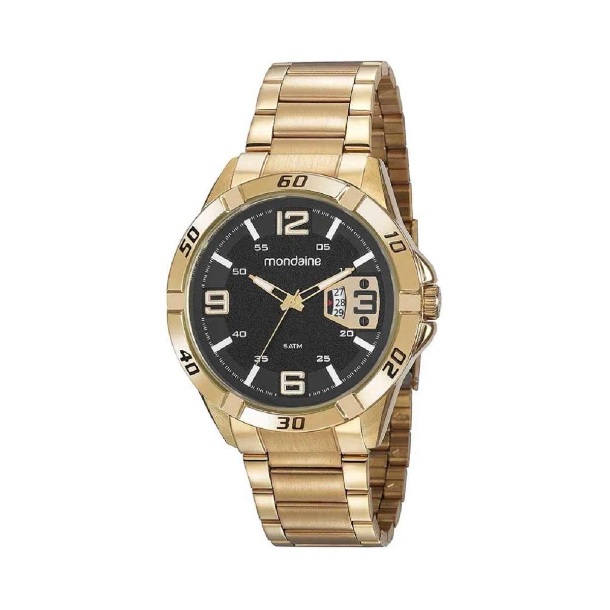 Relógio Masculino Mondaine Dourado 53834GPMVDE2