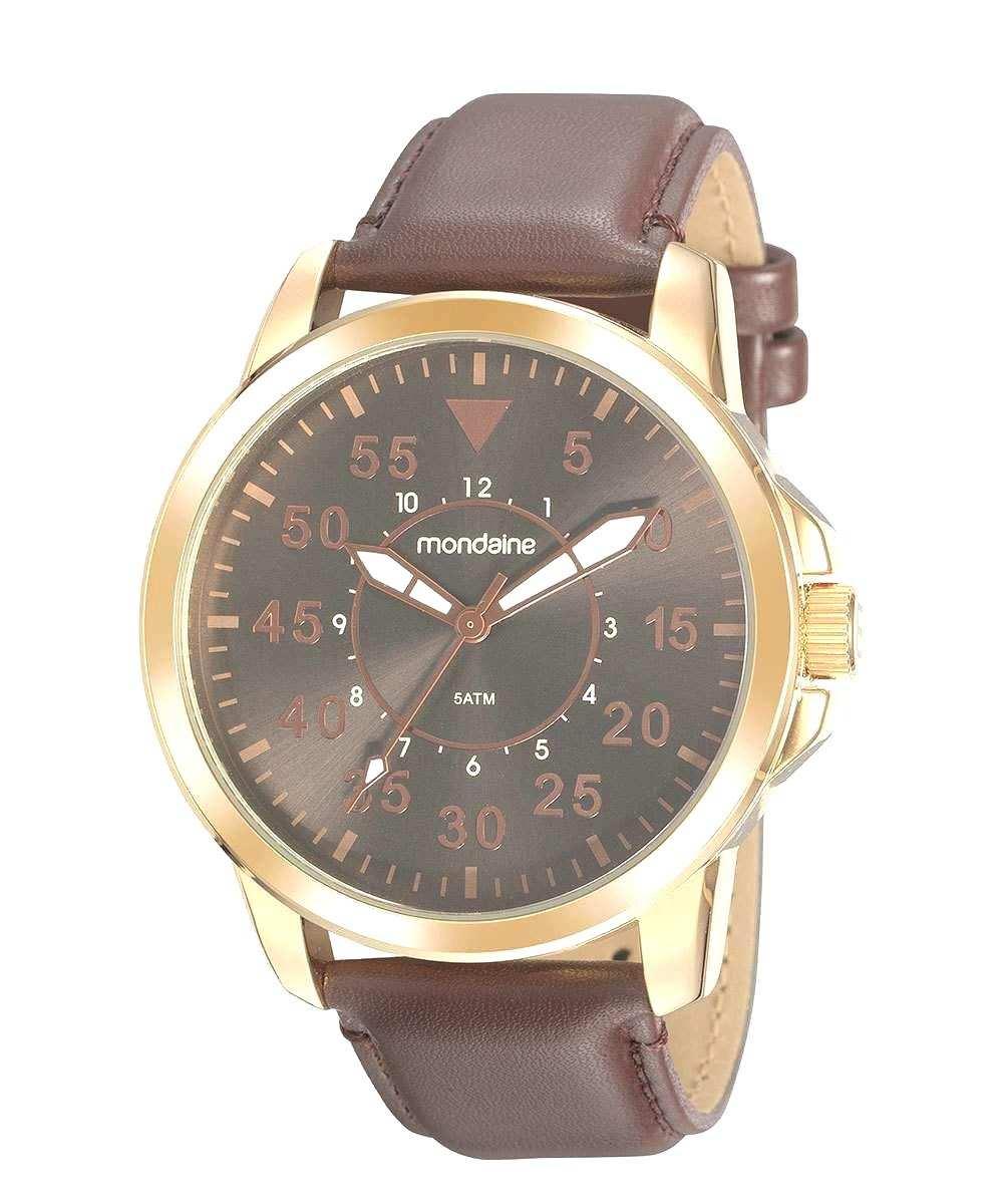 Relógio Masculino Mondaine Dourado/Marrom 99497GPMVDH1