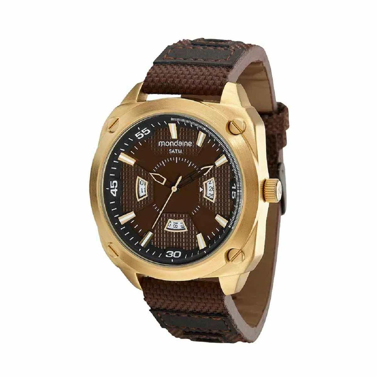 Relógio Masculino Mondaine Dourado/Marrom 99543GPMVDH2