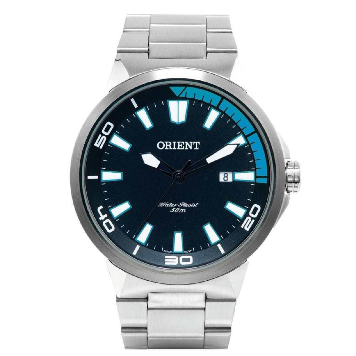 Relógio Masculino Orient Prateado Analógico MBSS1196A PASX