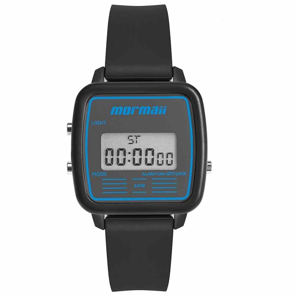Relógio Mormaii Unissex Retrô Mojh02ba/8a Digital Pulseira Silicone