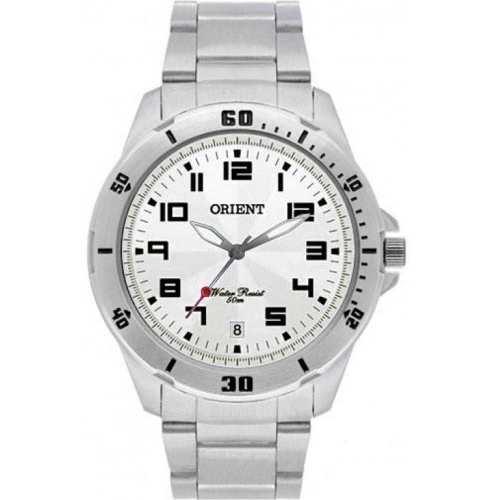 Relógio Orient Masculino Analógico Prateado Fundo Branco MBSS1155A S2SX