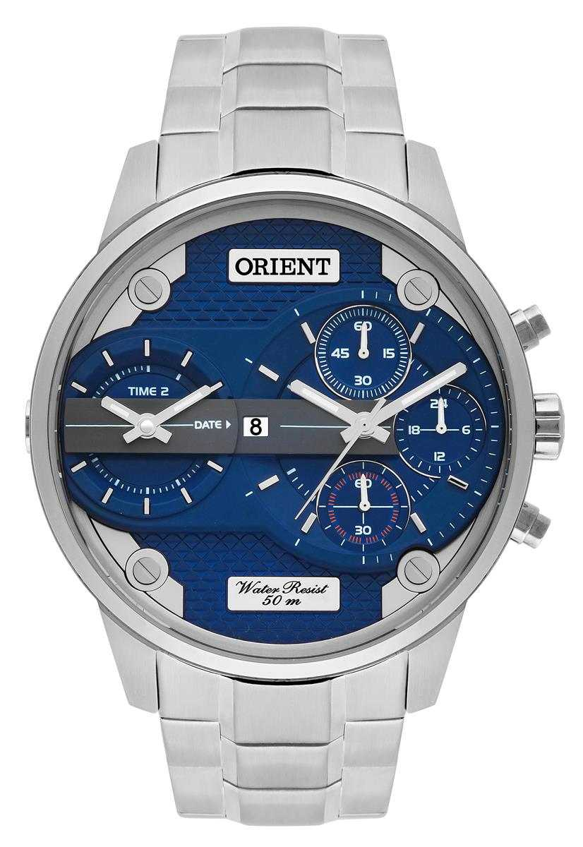 Relógio Orient Masculino Cronógrafo Prateado MBSST001 D1SX