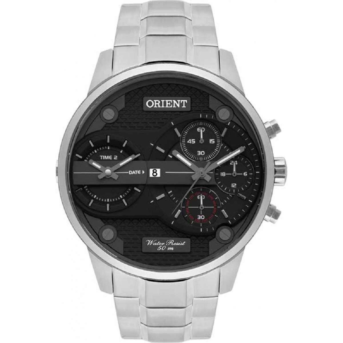 Relógio Orient Masculino Cronógrafo Prateado MBSST001 P1SX
