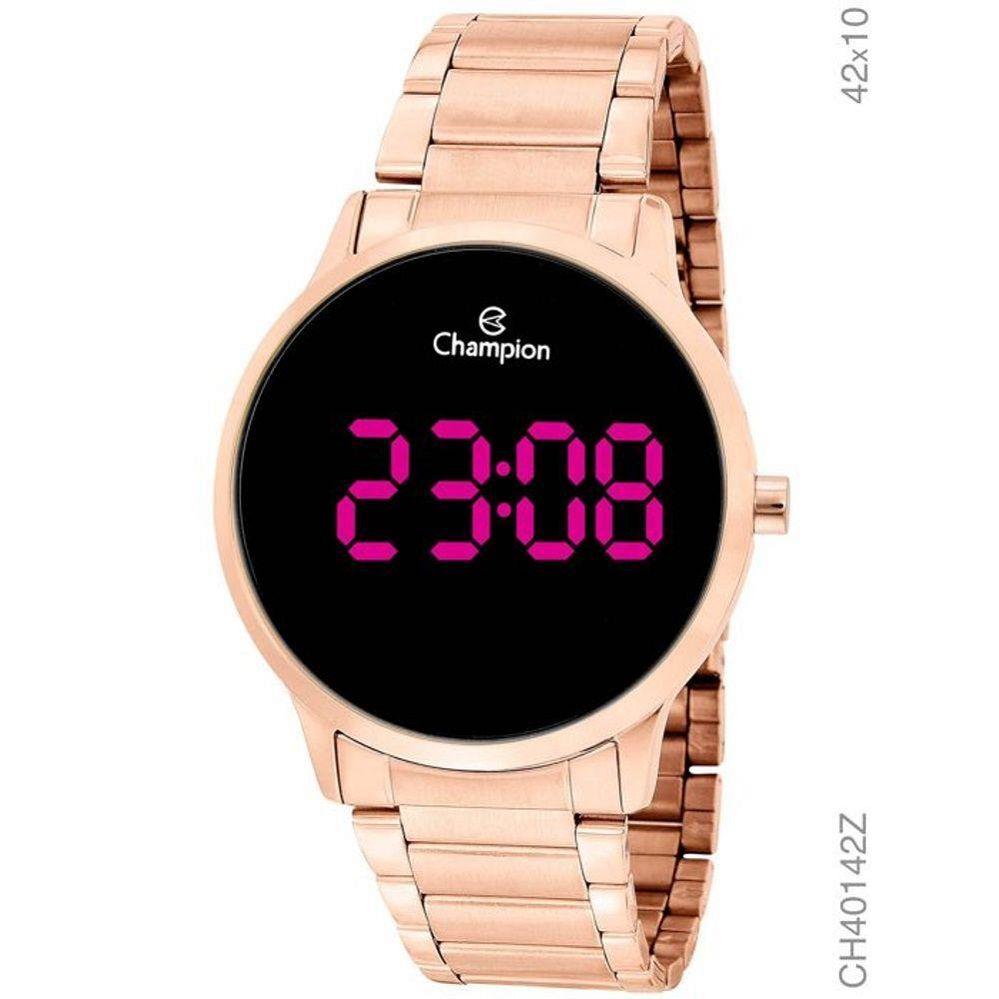 Relógio Rose Feminino Digital Led Rosa Grande Champion Ch40142z
