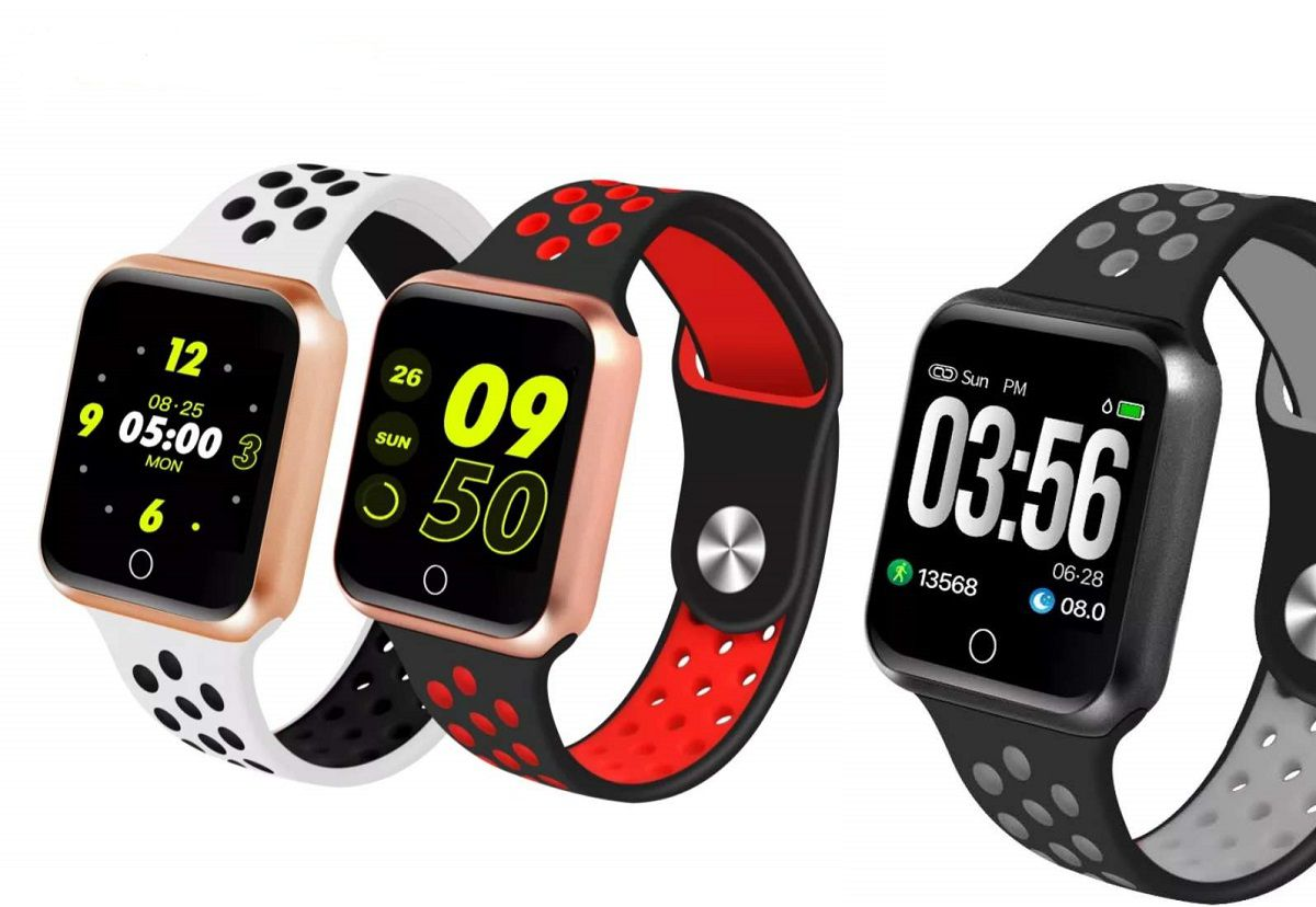 Relógio Smartwatch Fitness Batimentos Pressão Sono S226 Serie 2 Preto/Cinza
