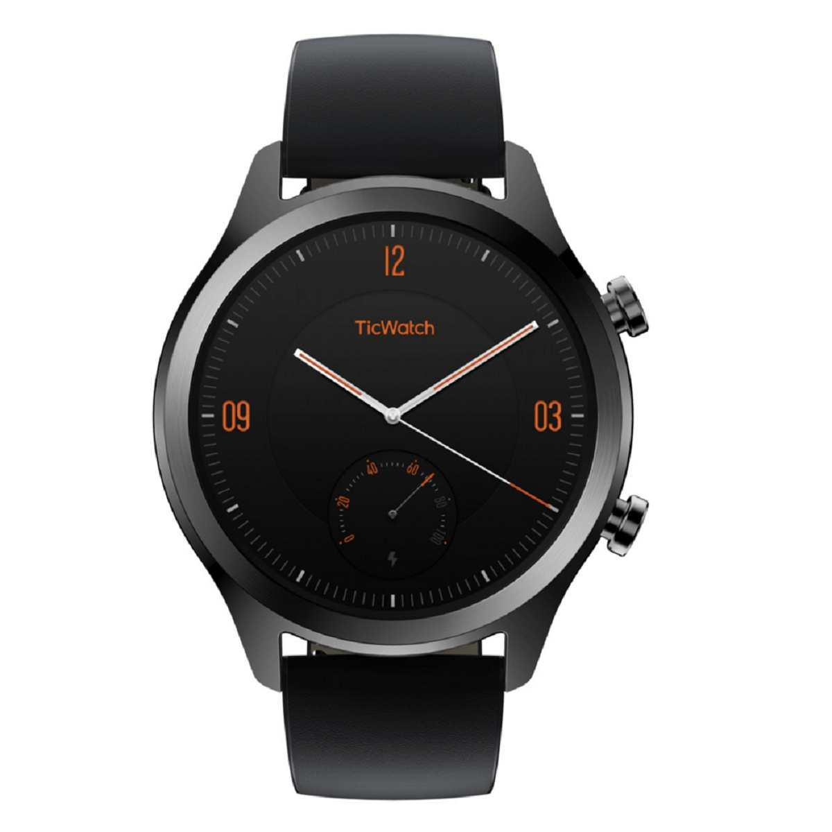 Relógio Smartwatch Mobvoi Ticwatch C2 Pxpx Com GPS integrado Couro Preto