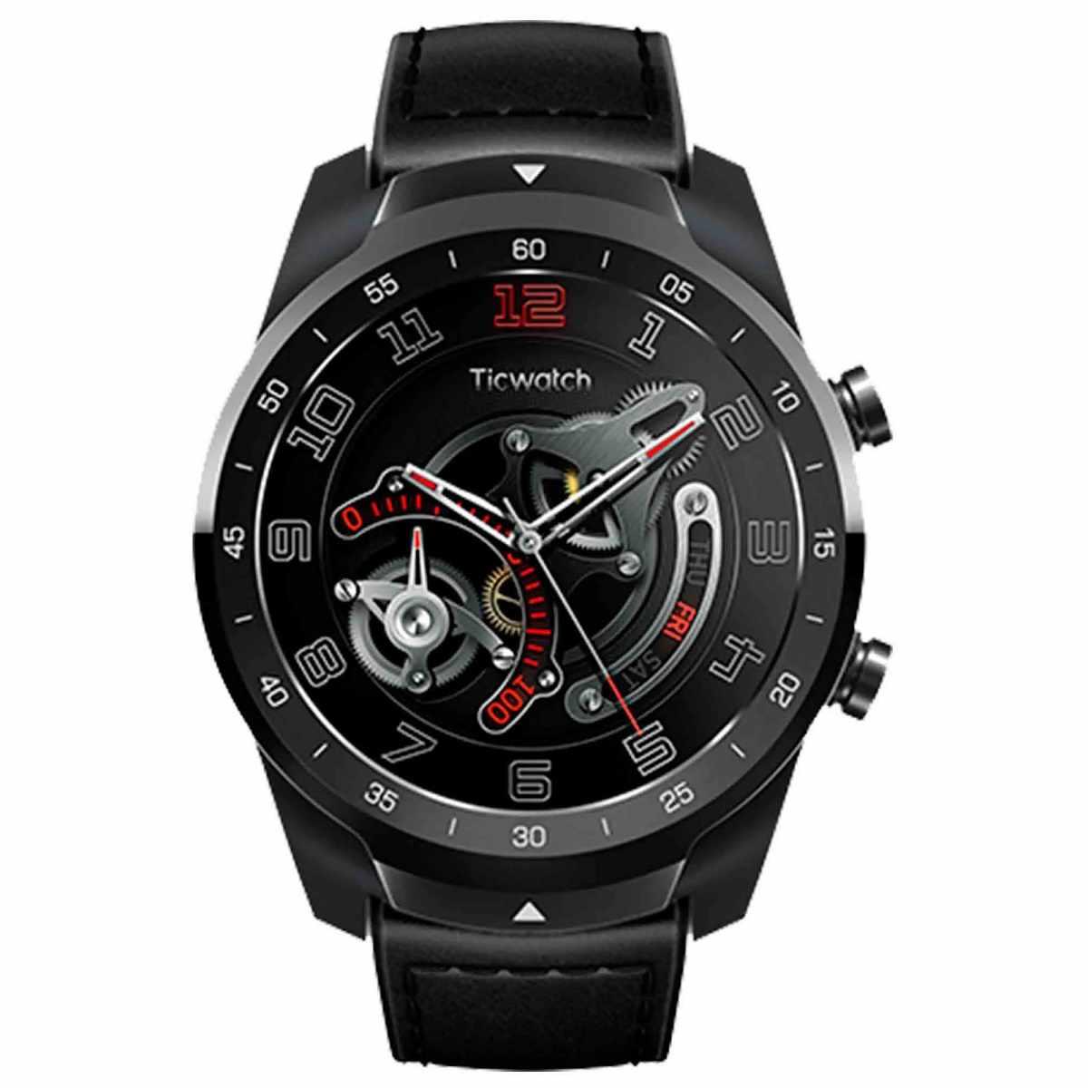 Relógio Smartwatch Mobvoi Ticwatch PRO PXPX Com GPS integrado Preto Couro