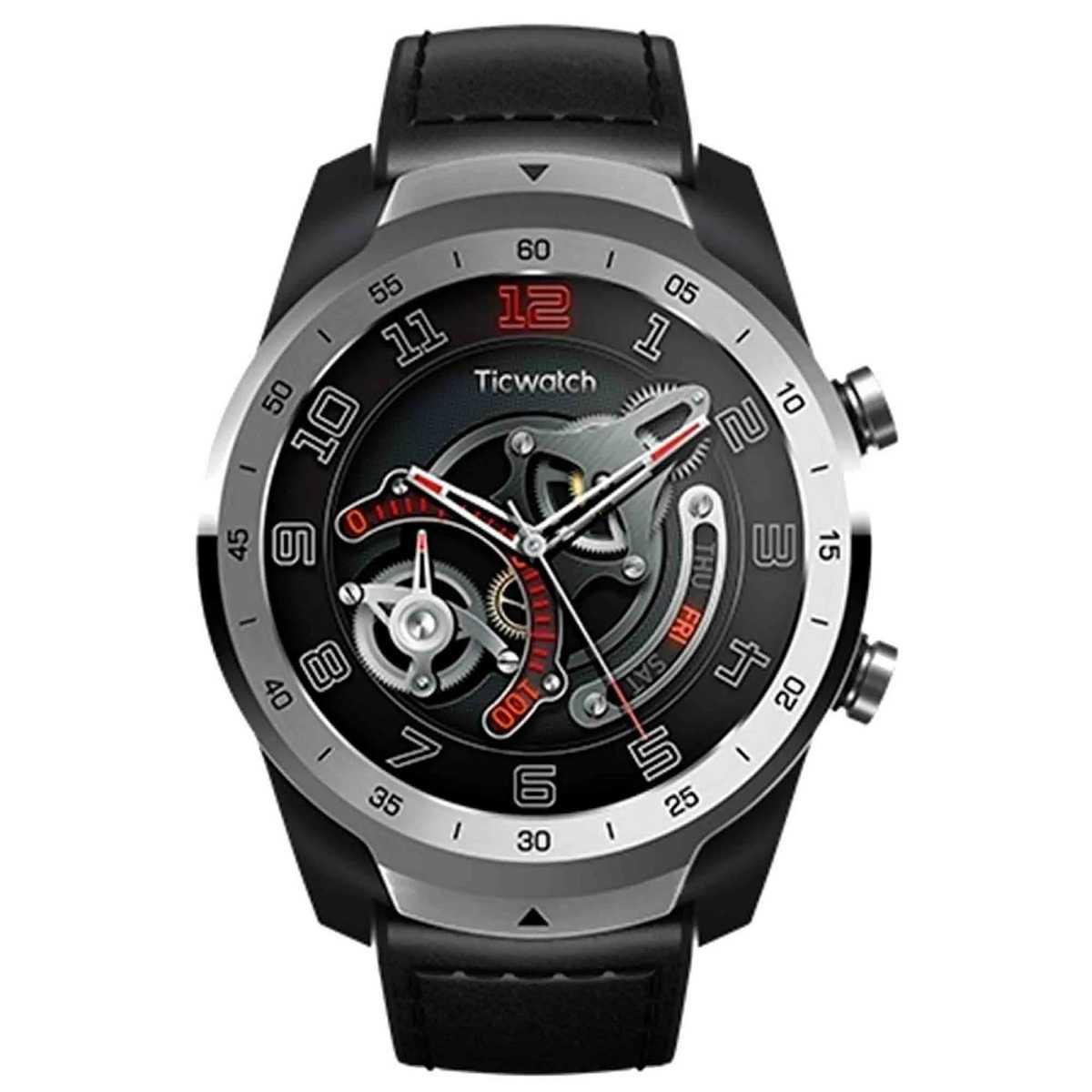 Relógio Smartwatch Mobvoi Ticwatch PRO SXPX Com GPS integrado Prateado Couro Nfc