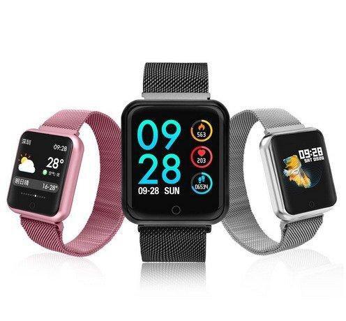 Relógio Smartwatch P70 Monitor Cardíaco Pressão Arterial Sono Passos Android iOs