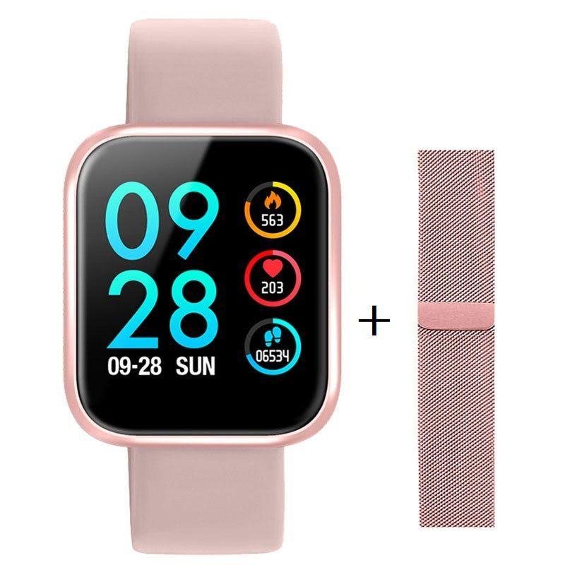 Relógio Smartwatch P80 Touch Screen Monitor Cardíaco Pressão Arterial Sono Passos Android iOs