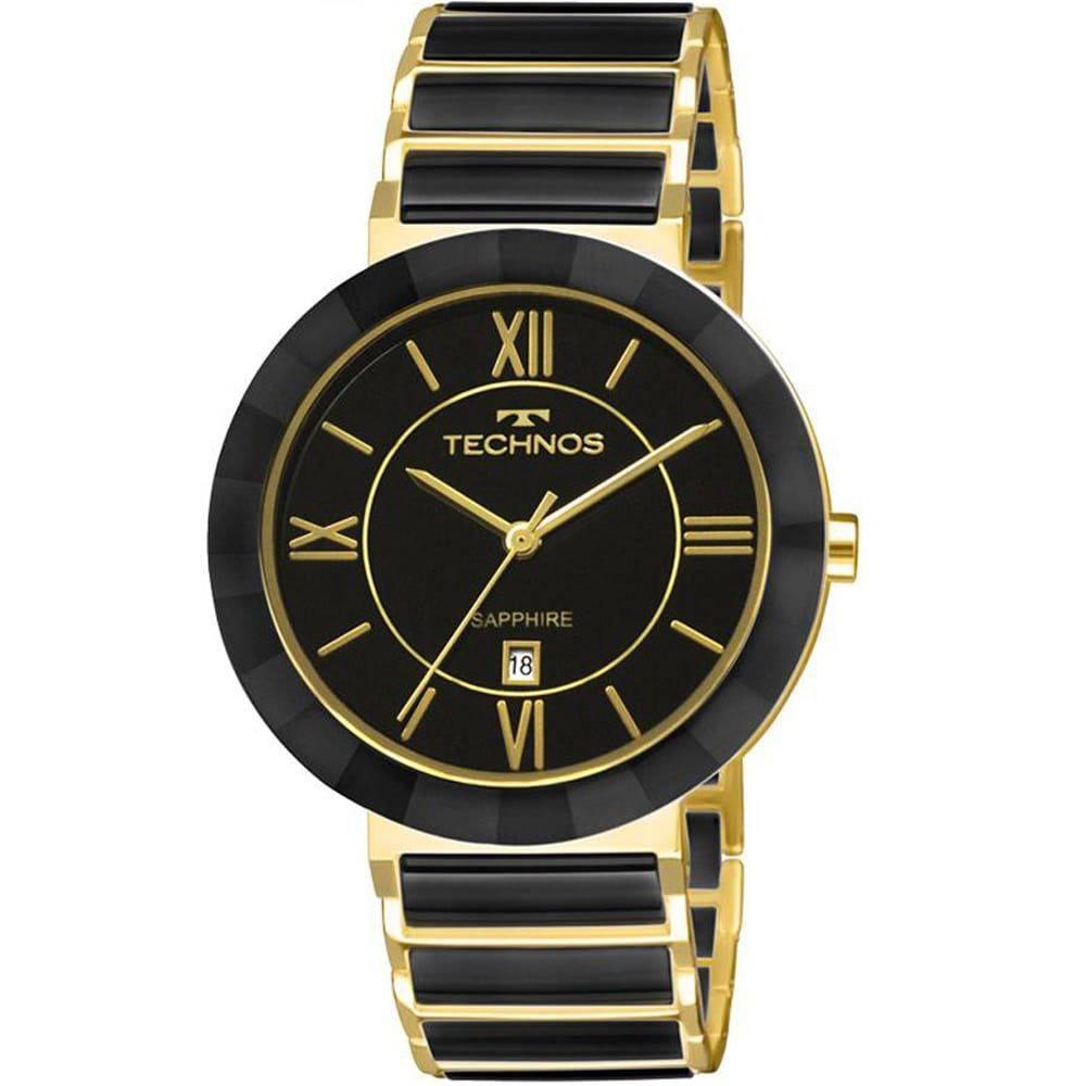 Relógio Technos Cerâmica Preto Feminino Elegance 2015BV/4P