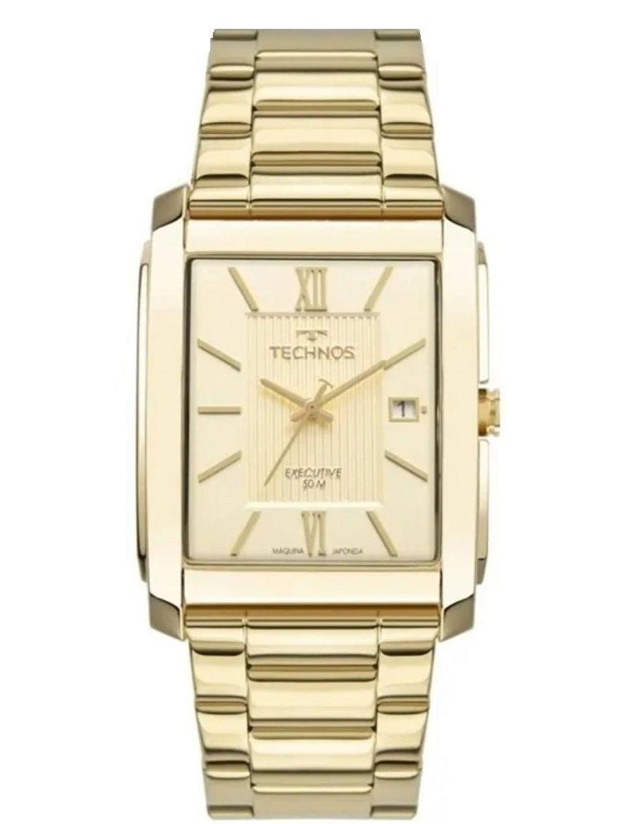 Relógio Technos Executive Masculino Data Dourado 2115MWW/1D