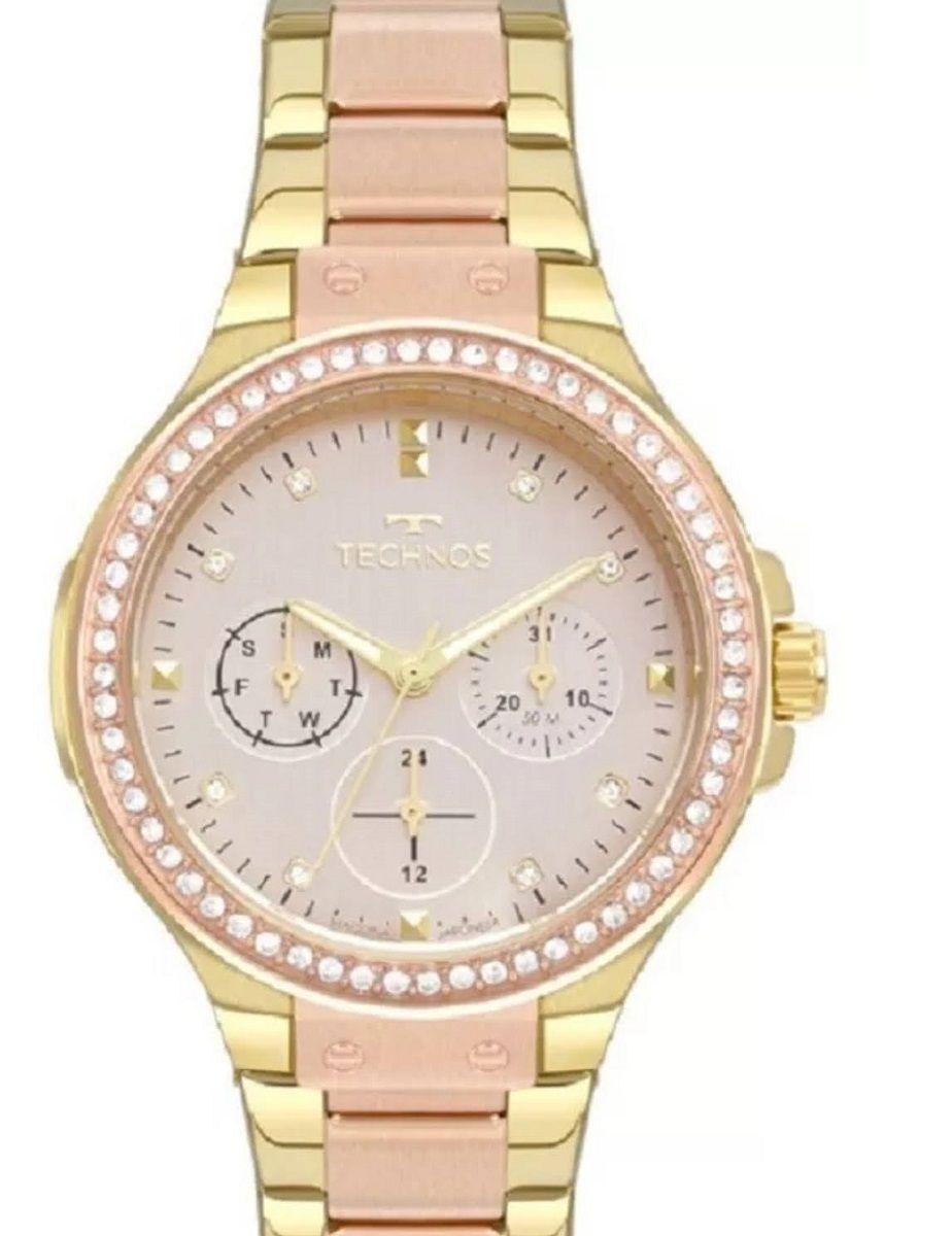 Relógio Technos Feminino Analógico Bicolor Dourado E Rosê 6P29AKS/5J