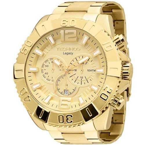 Relógio Technos Legacy Masculino Cronógrafo Data Dourado OS20IB/4X