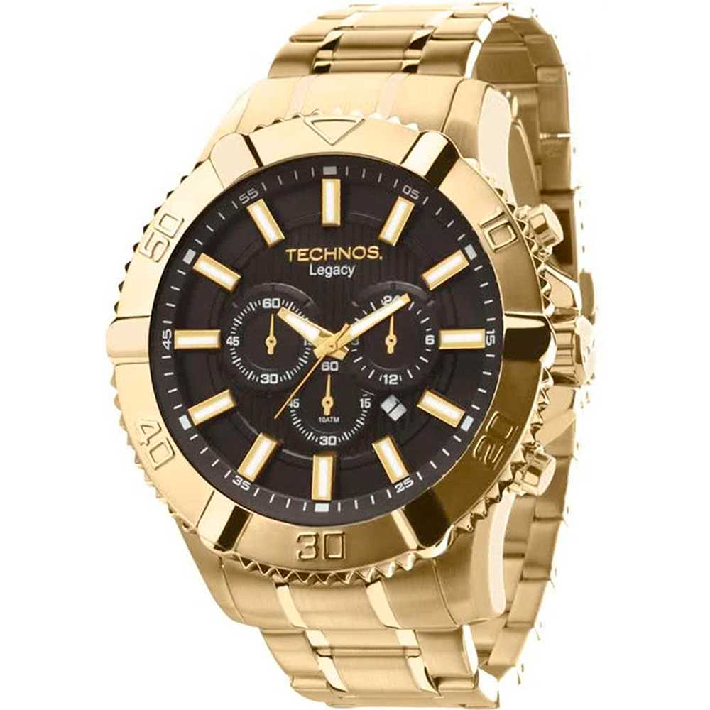 Relógio Technos Legacy Masculino Cronógrafo Data Dourado OS20IS/4P