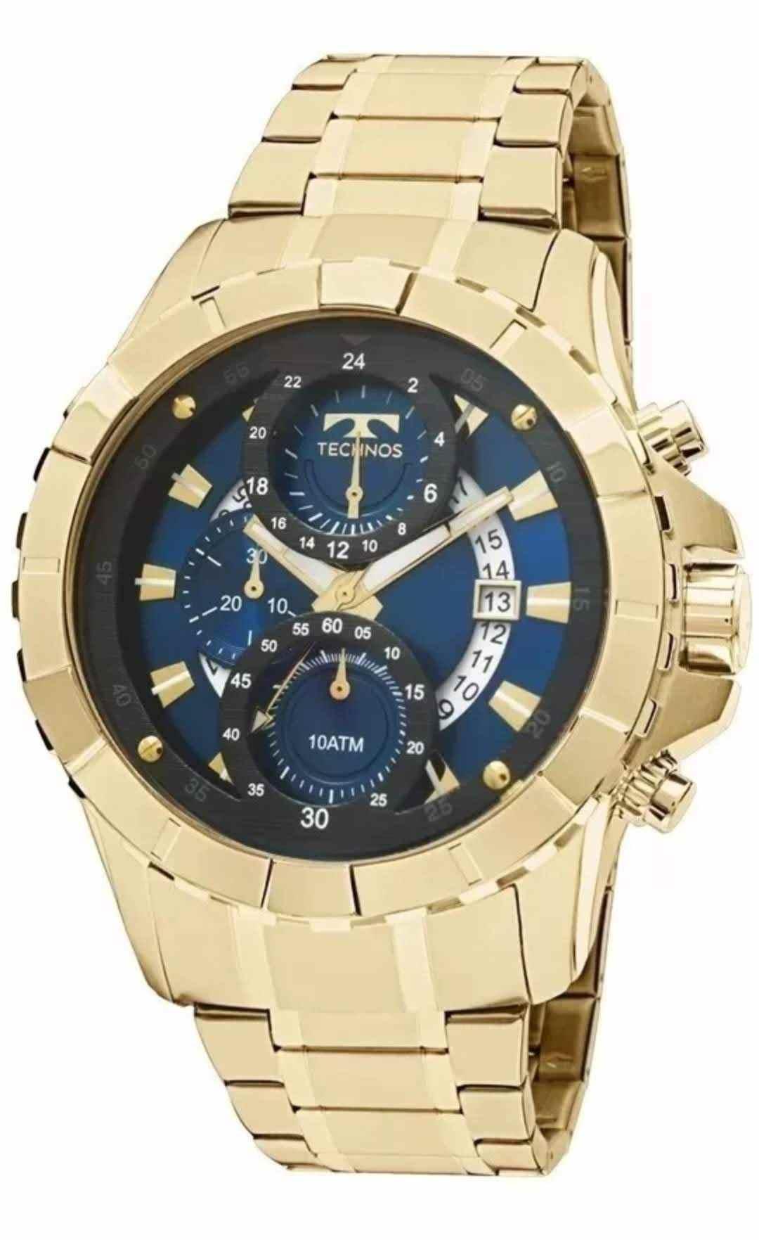 Relógio Technos Legacy Masculino Cronógrafo Dourado JS15EM/4A
