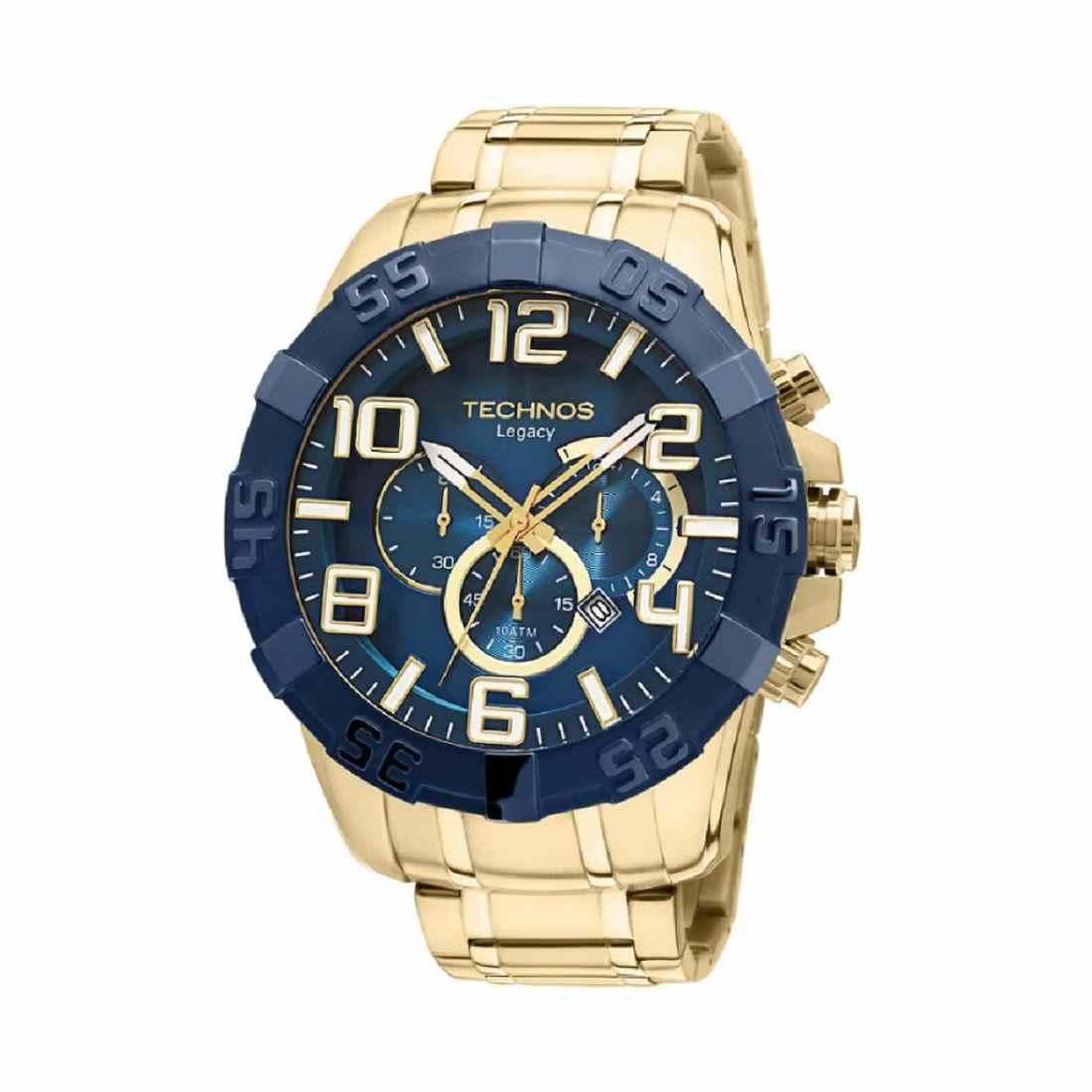 Relógio Technos Legacy Masculino Cronógrafo Dourado OS20IQ/4A