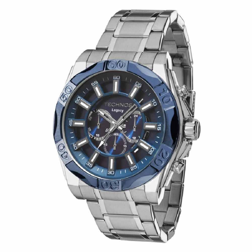 Relógio Technos Legacy Masculino Cronógrafo Prateado JS25BB/1A