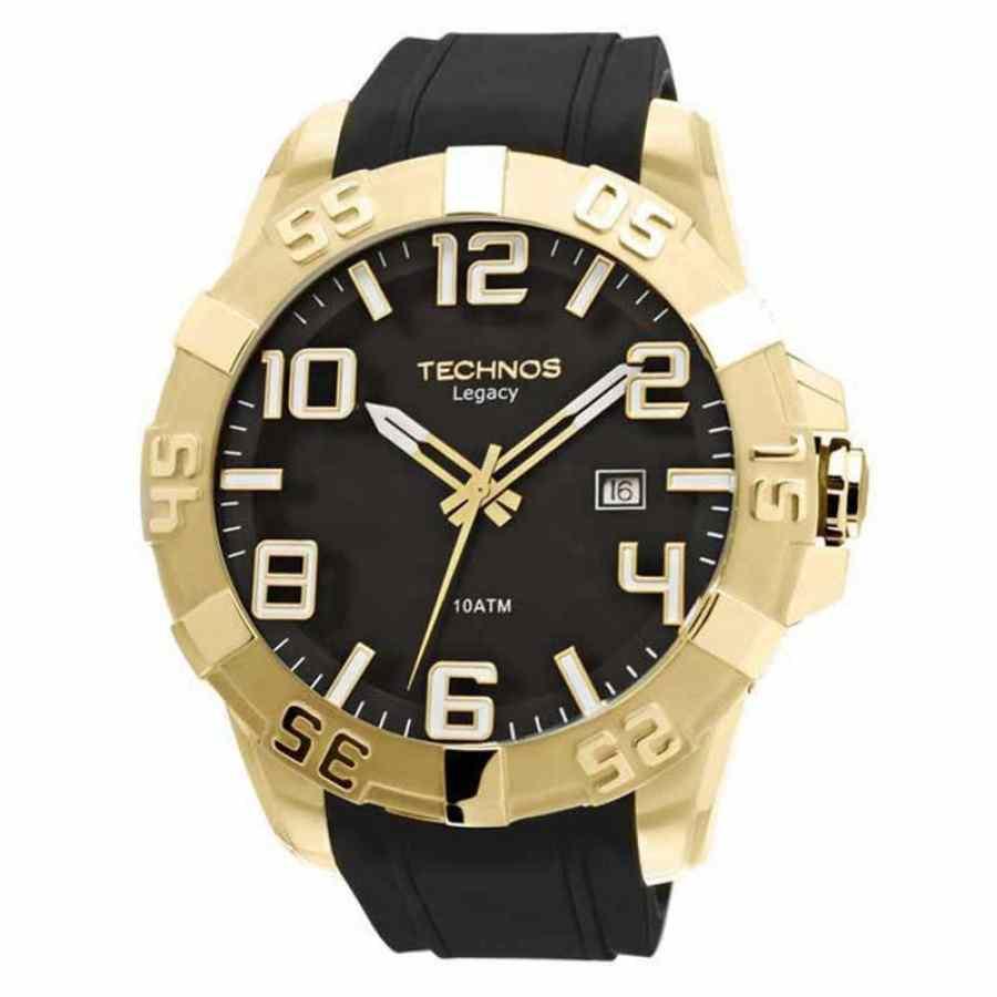 Relógio Technos Legacy Masculino Dourado Pulseira De Borracha 2315aaha/8p