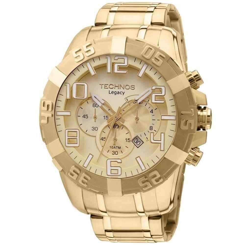 Relógio Technos Legacy Masculino Grande Cronógrafo Dourado OS20IK/4X