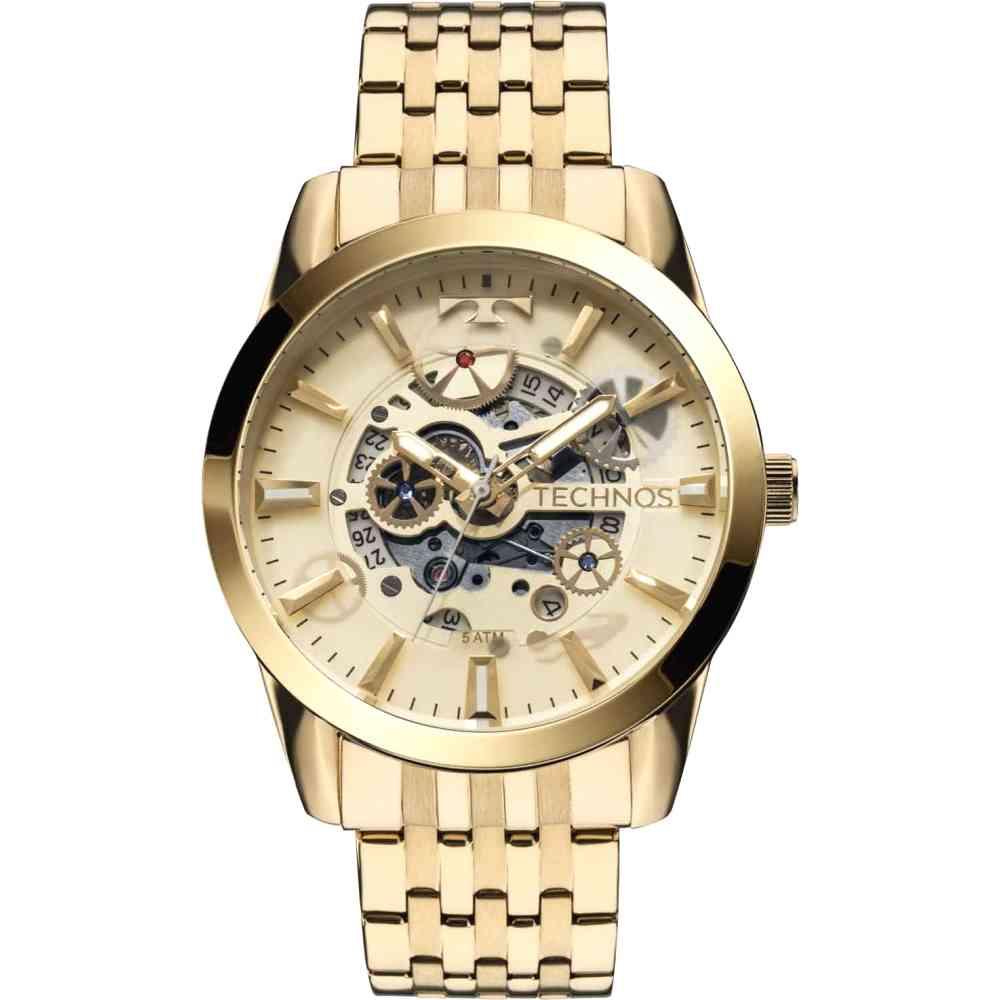 Relógio Technos Masculino Automático Dourado 8205NQ/4X