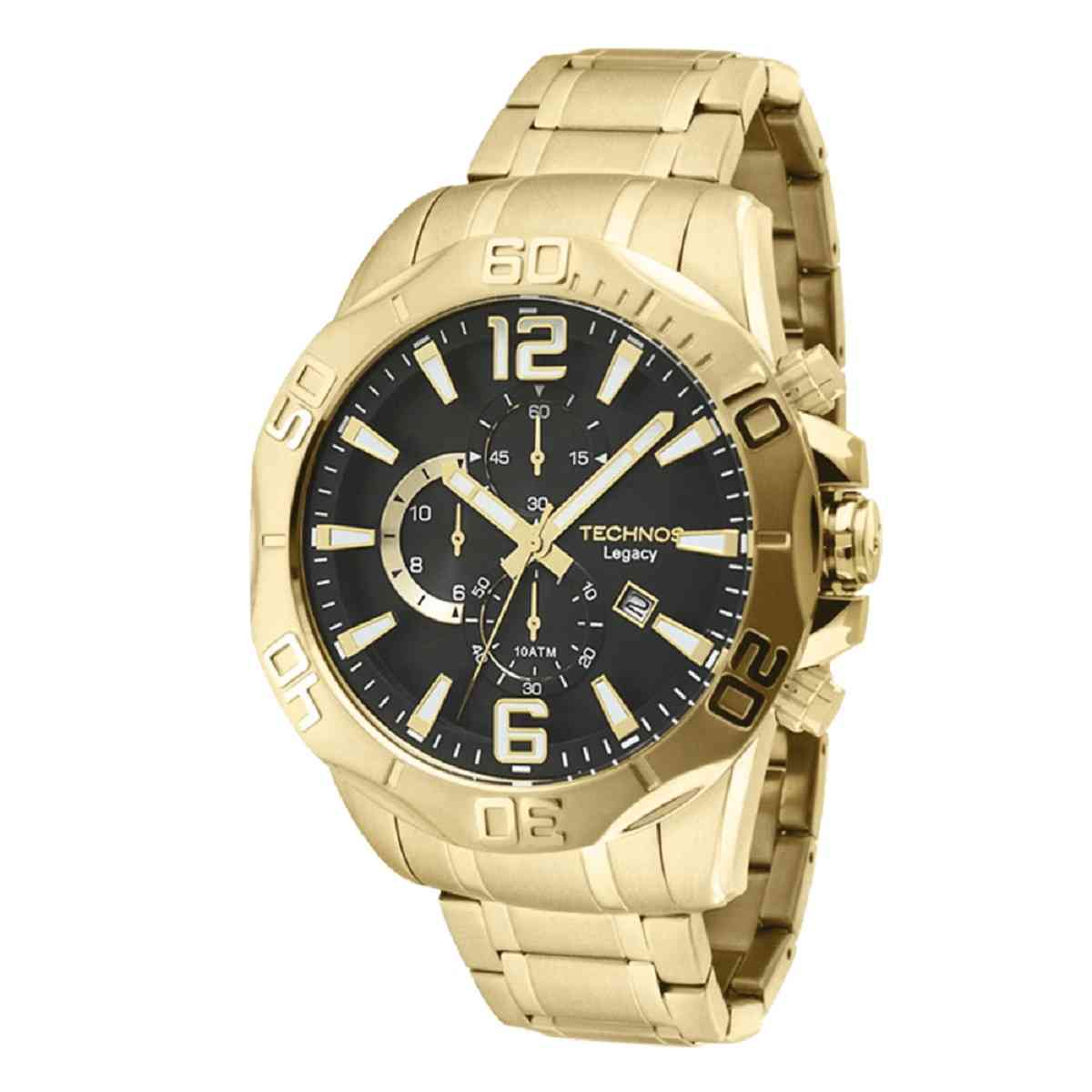 Relógio Technos Legacy Masculino Cronógrafo Dourado OS1AAP/4P