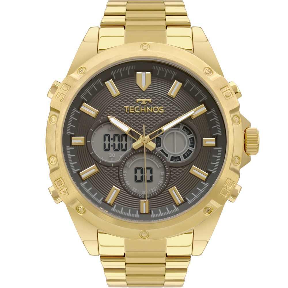 Relógio Technos Performance Masculino Digital E Analógico Dourado BJ3814AB/1P