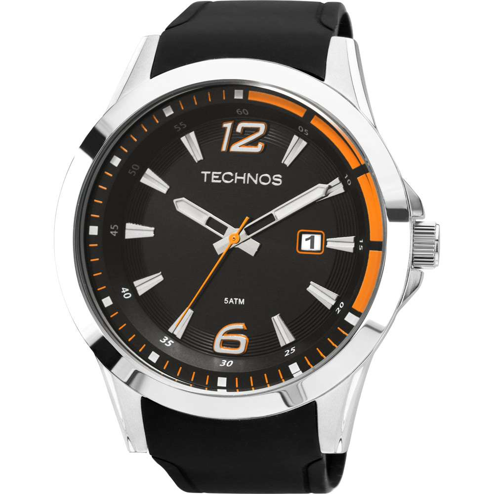 Relógio Technos Performance Racer Masculino Prateado Pulseira De Silicone 2115KQB/8L