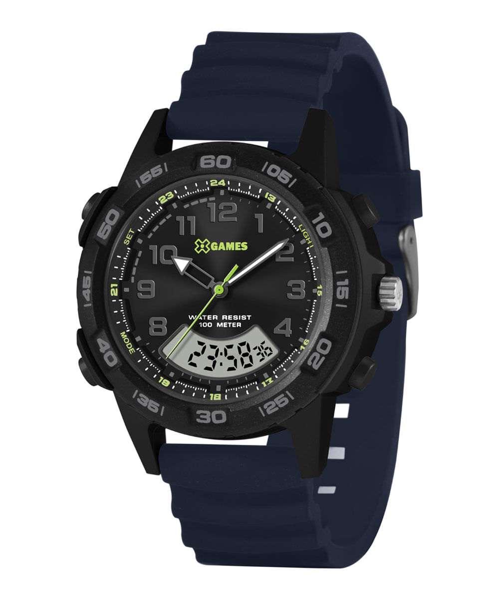 Relógio Xgame Masculino Analógico e Digital Azul XMPPA313P2DX