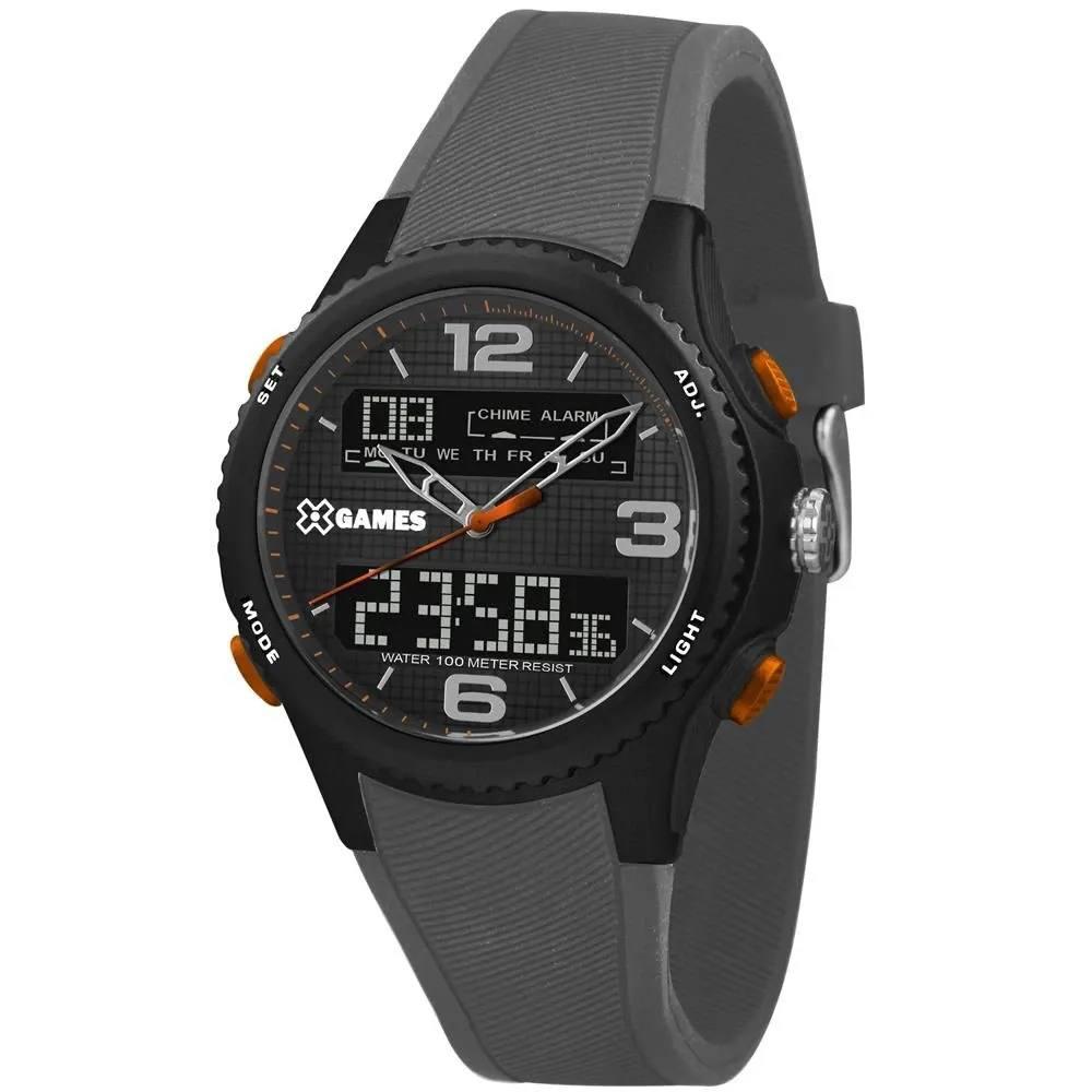Relógio Xgame Masculino Cinza Digital e Analógico XMPPA281P2GX