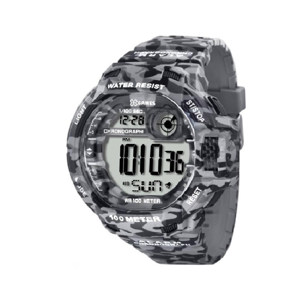 Relógio Xgame Masculino Digital Cinza Camuflado XMPPD288 BXGP