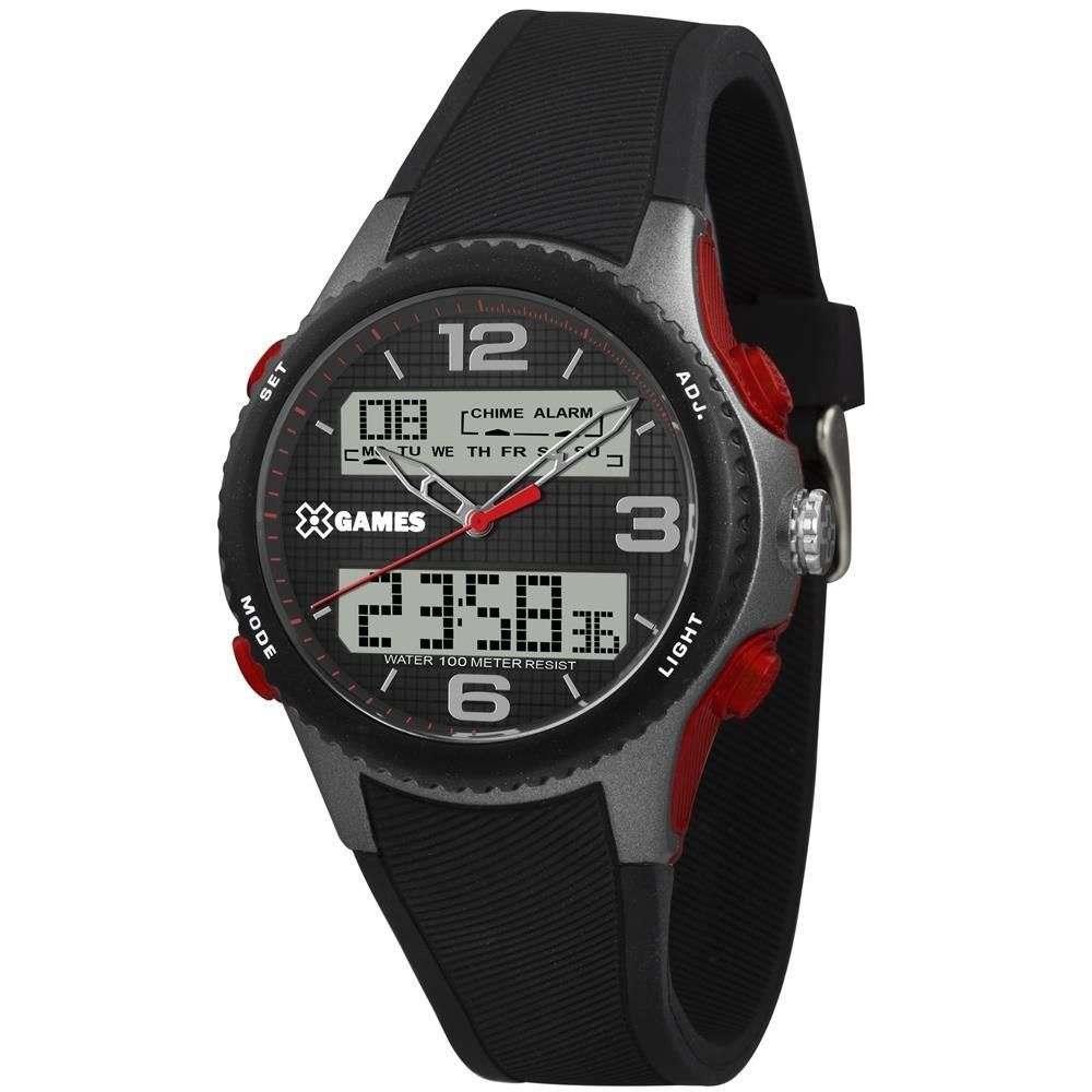 Relógio Xgame Masculino Preto Digital e Analógico XMPPA283P2PX