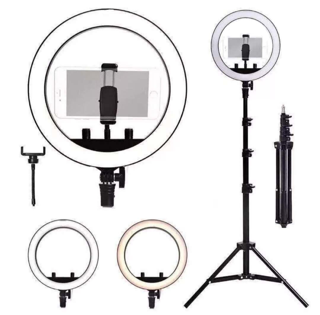 Ring Light Completo Iluminador 15w Portátil 26cm Com Tripé1.6m