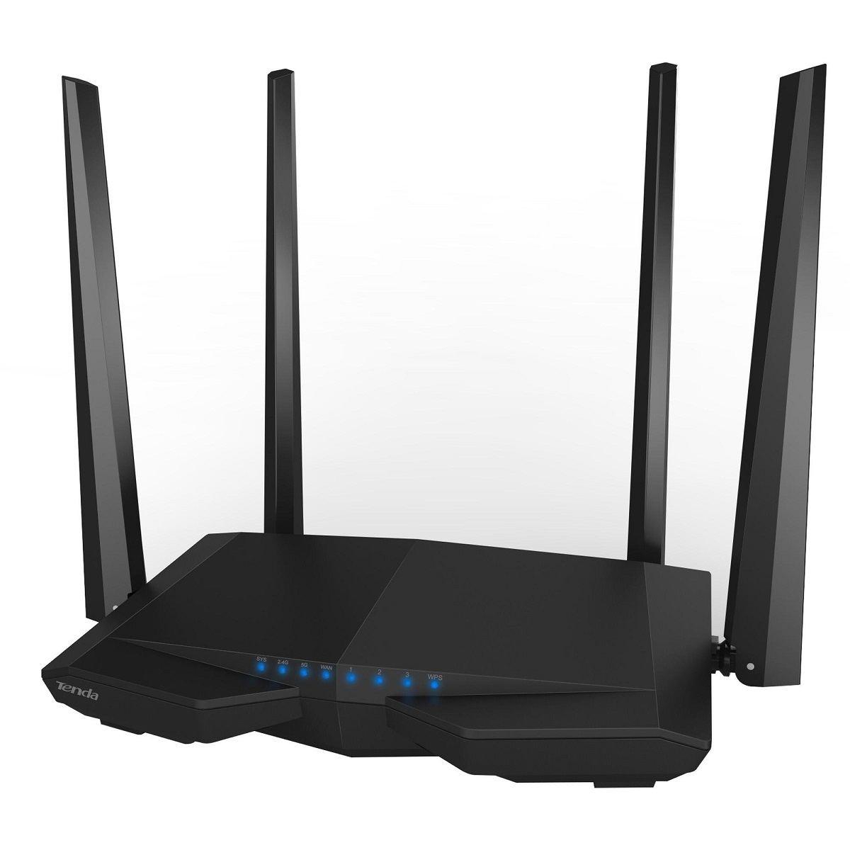 Roteador Dual Band Wifi 1200MBPS AC6 Tenda Preto