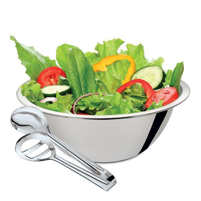 Saladeira Conjunto Para Salada Com Pegador Inox - Art house