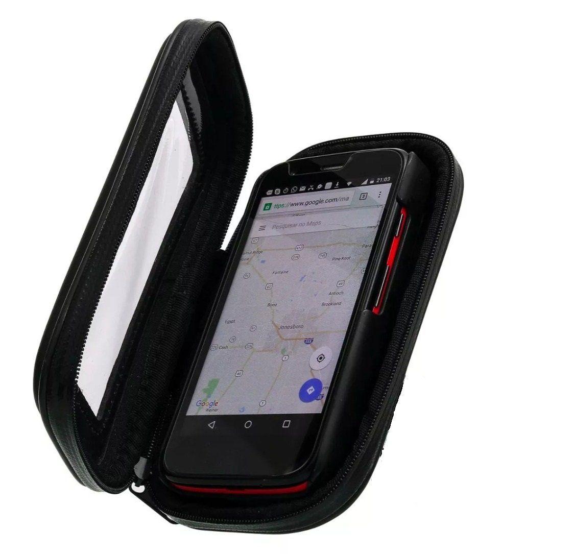 Suporte Capa Celular Moto Prova D´água Impermeável Smartphone Tela 6.3