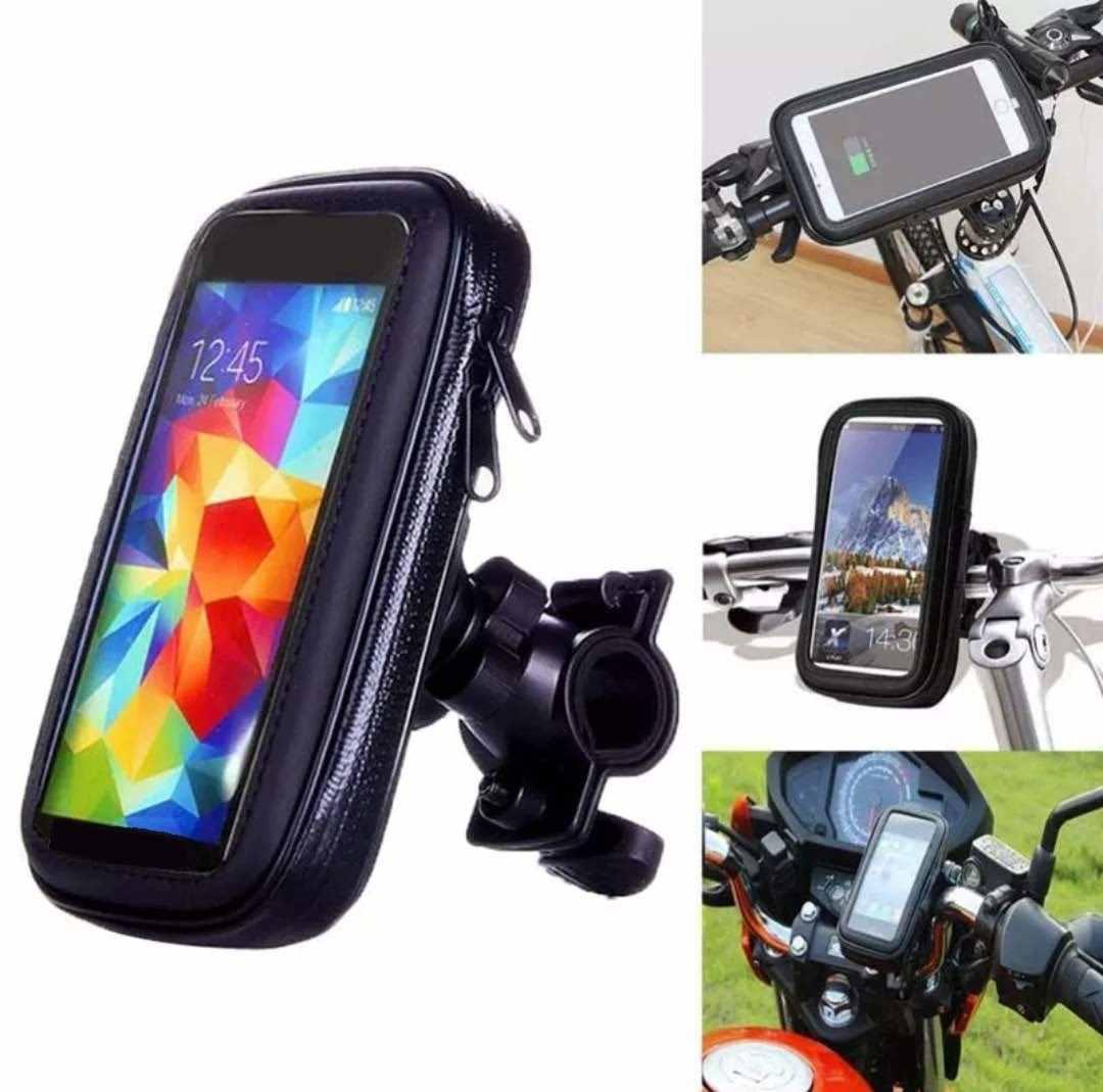 Suporte Celular Para Moto Bike Prova D´água Impermeável Tela 5.5